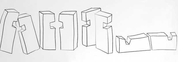 Docta ignorantia, Kohle auf Papier, 200x60cm 2008