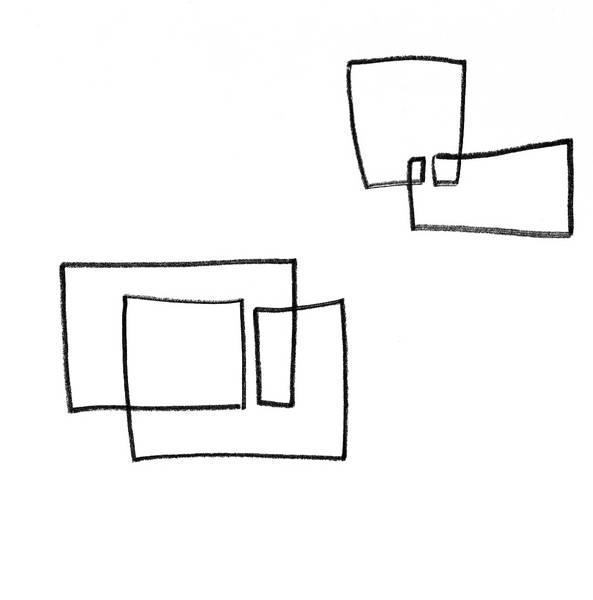 Linien und Räume, Bleistift, 30x30 cm 2009