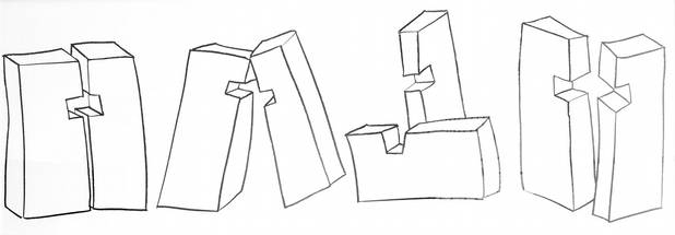 Docta ignorantia III, Kohle auf Papier, 200x60cm 2008