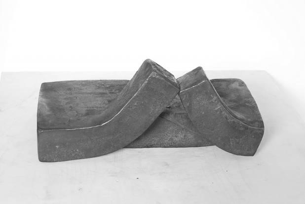 In Bewegung 11, Geschmiedetes Eisen, 310x240x45mm, 2011