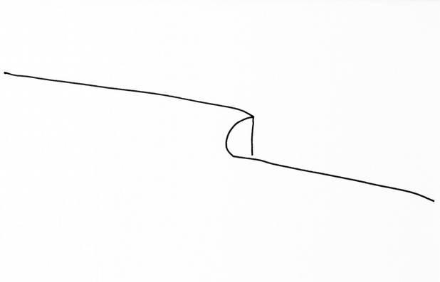 Abgrund, Möglichkeit des Horizontes, Tinte, 30x40 2011