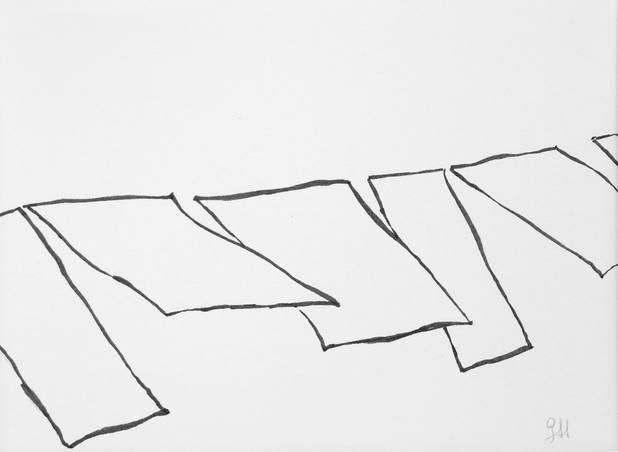 Leine, Pinselzeichnung, 14,8x21cm 2012