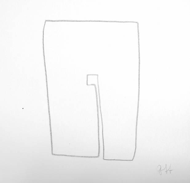 O, Bleistiftzeichnung, 16x16cm 2009