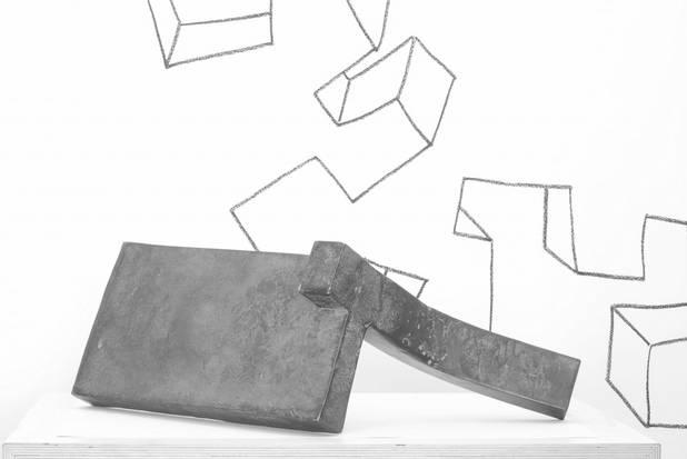 U, Geschmiedetes Eisen, 60x40x30cm, 2008