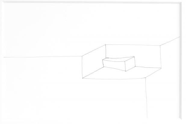 """Für die series: """"vision and brain"""", Tinte, 20x30cm 2013"""