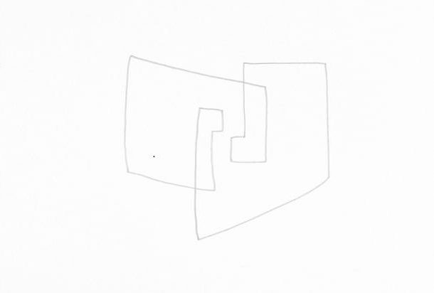 Geschehen, Bleistift, 20x20cm 2014