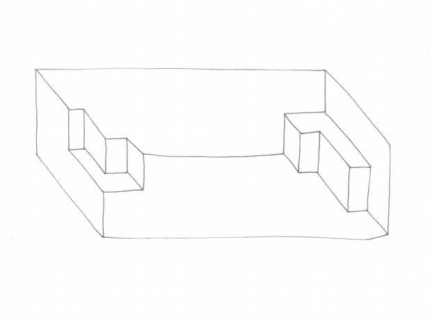 """Für die series: """"vision and brain"""", Tinte, 18x24 cm 2014"""