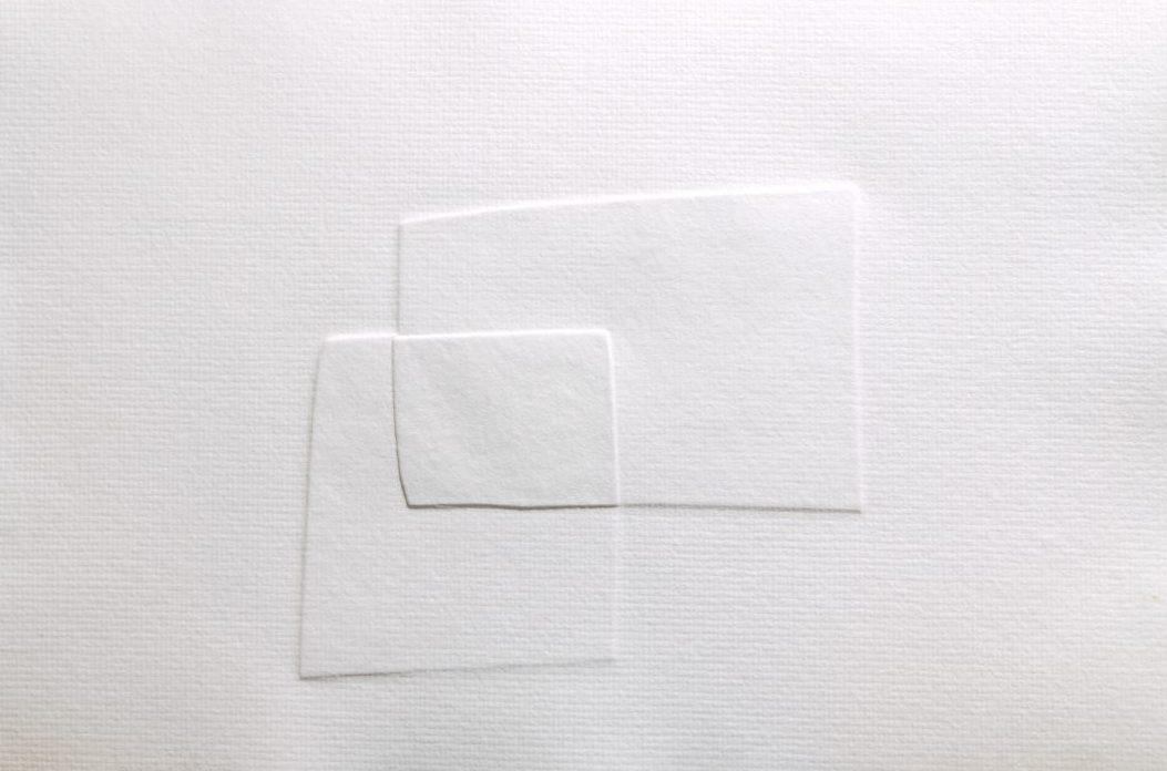 Blindprägung in Büttenpapier 300 grs / 3er serie, 50x70 cm 2004