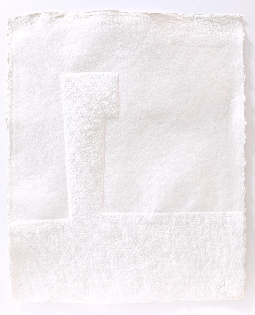 Prägung in Büttenpapier, 40x50cm.