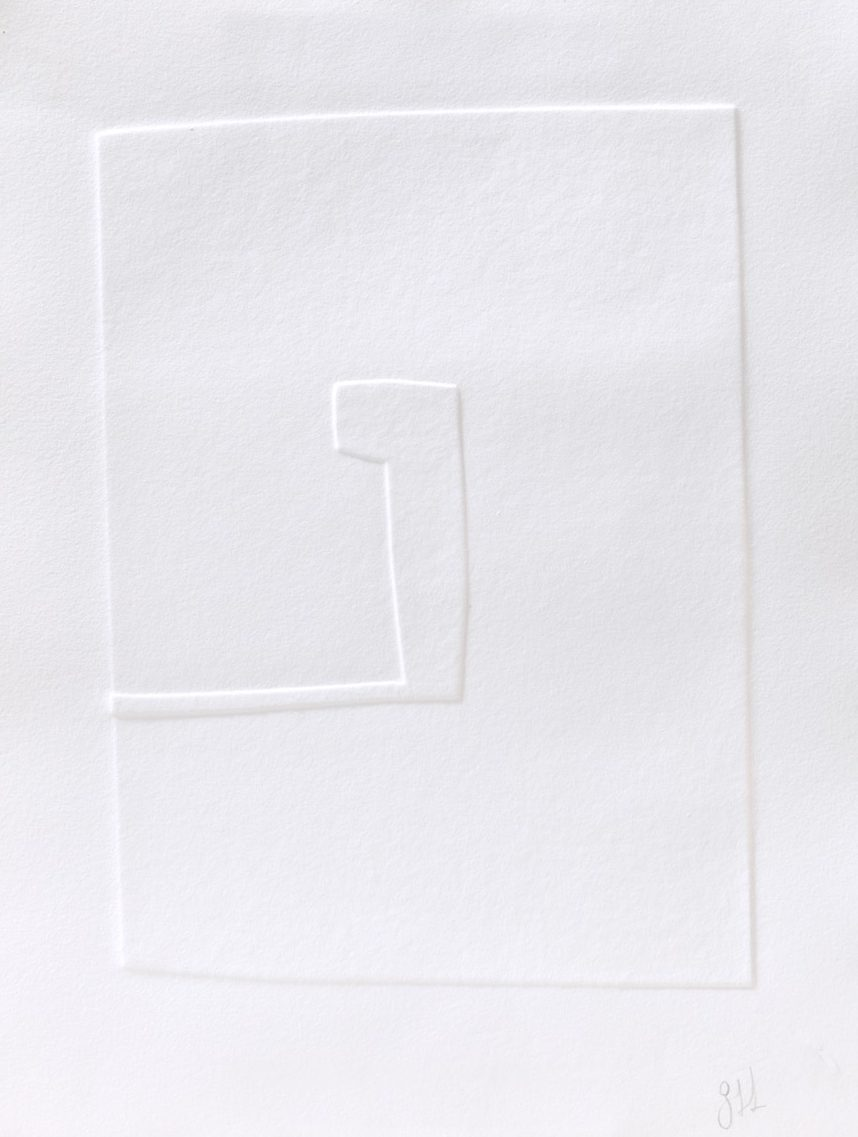 Blindprägung, blind embossing. 2016