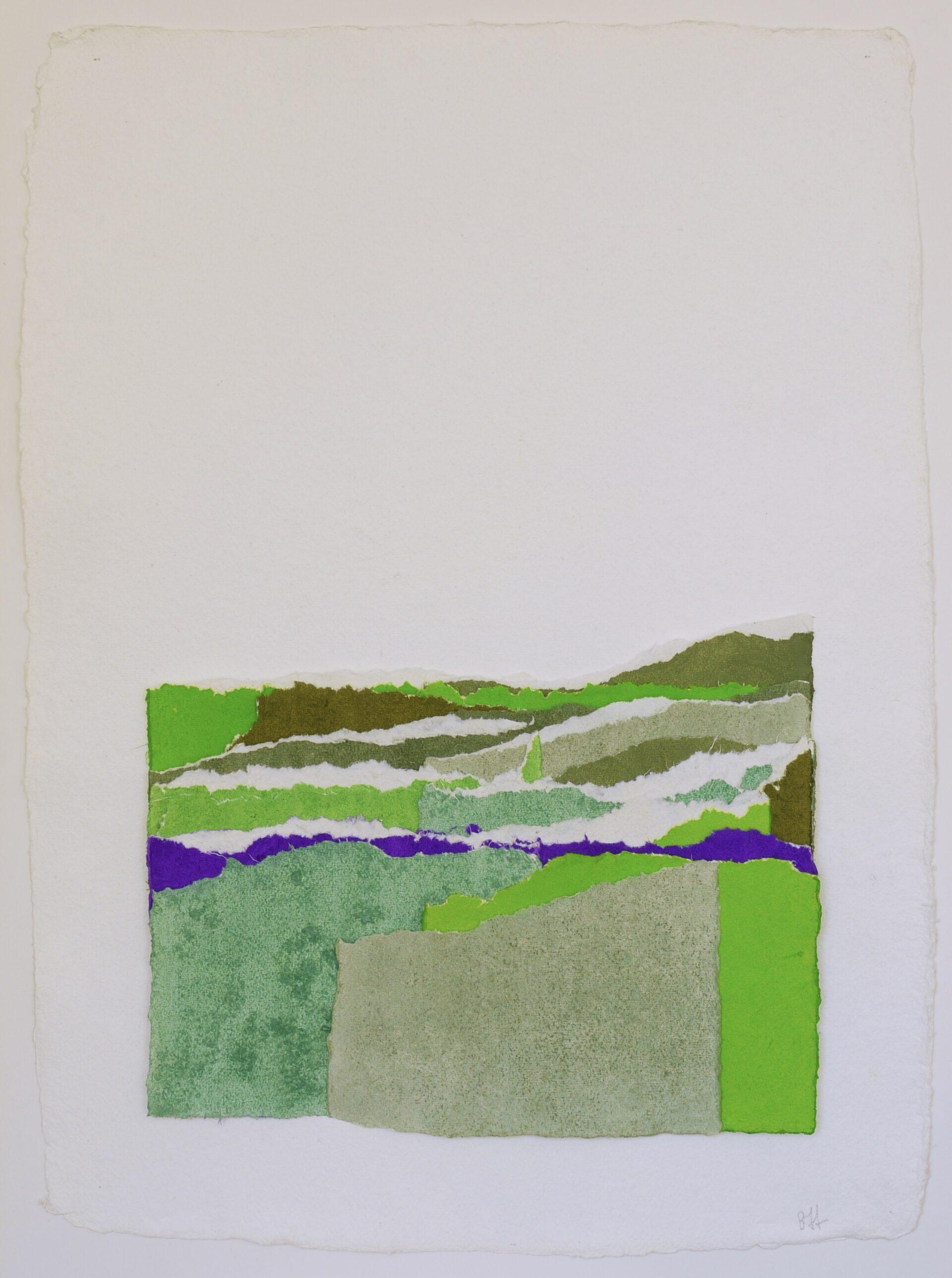 Papel, pigmentos e hilo. 100 x 80 cm.